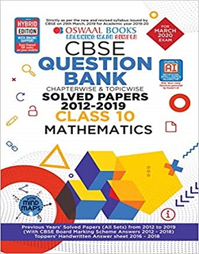 Oswaal CBSE Question Bank Class 10 Mathematics Chapterwise & Topicwise (For March 2020 Exam)  (English, Paperback, Oswaal Editorial Board)